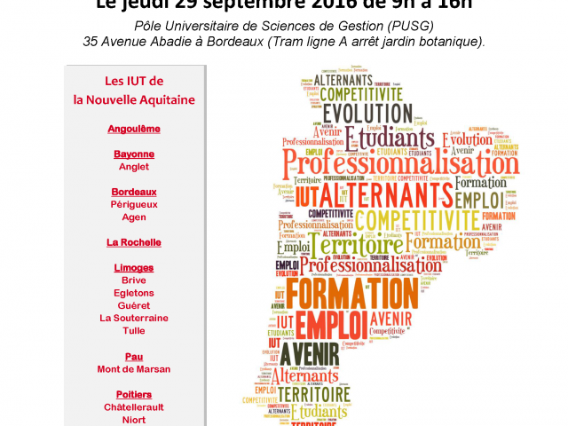 Affiche assises professionalisation - Bordeaux - 29 sept 2016